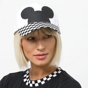Vans Mickey Mouse checkerboard hat